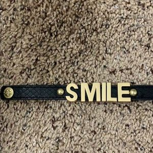 Black and gold smile bracelet